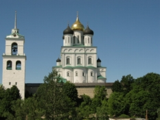 Trinity Cathedral. Photos of Old Churches in Pskov city.